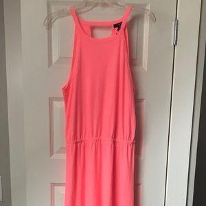 Cute neon pink maxi dress